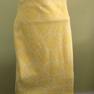 New York and Company Lemon Yellow Polyester Skirt